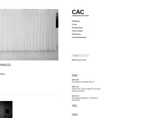cac.lt - Minimalist site