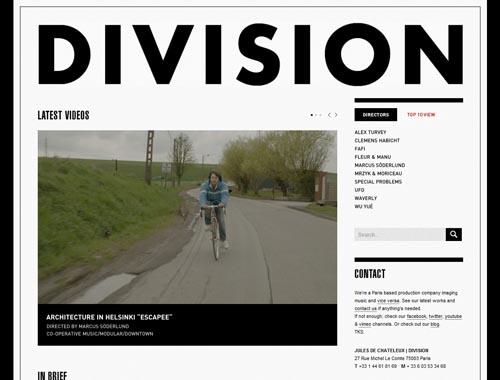 divisionparis.com - Minimalist site
