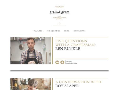 grainandgram.com - Minimalist site