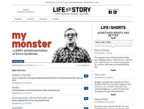 lifeofmystory.com - Minimalist site