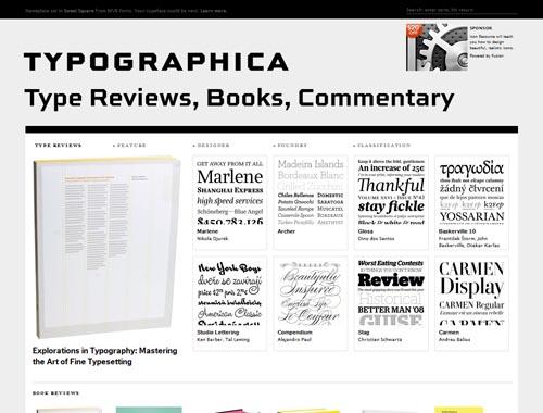 typographica.org - Minimalist site