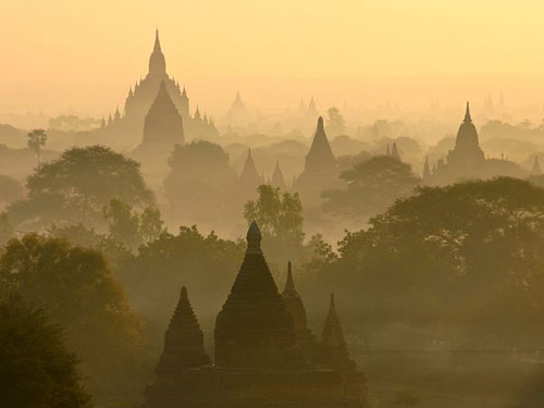 Sunrise Skyline, Bagan Photography