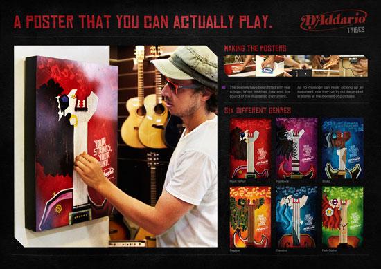 D'Addario Strings Outdoor Advertising