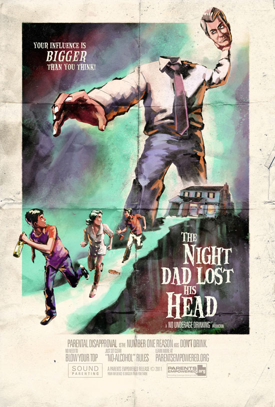 The Night Dad Lost His Head Outdoor Advertising