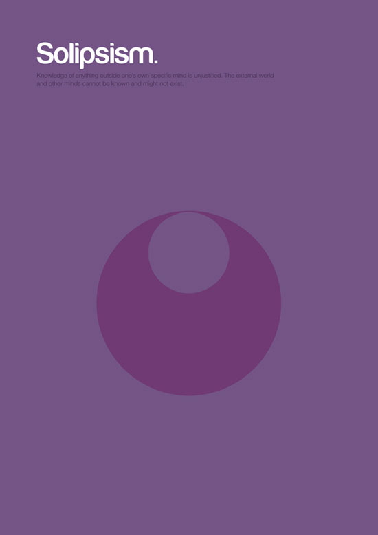 solipsism minimalist graphic design poster
