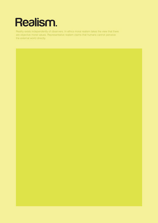 Realism minimalist graphic design poster
