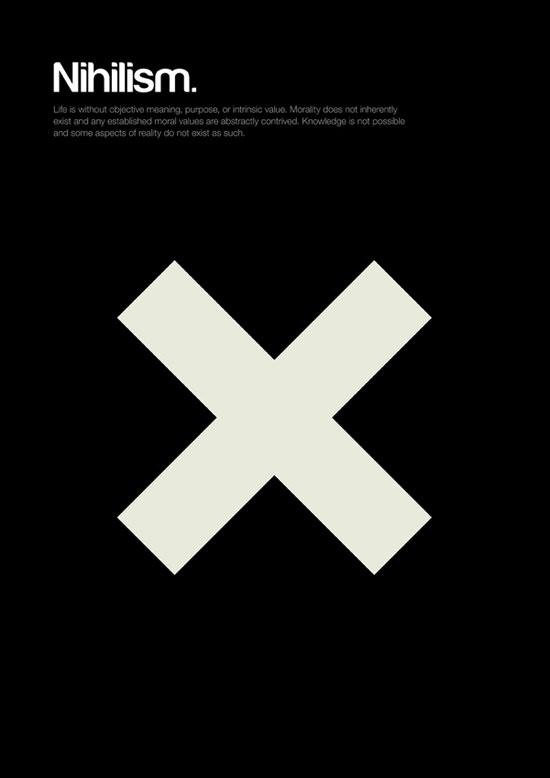 Nihilism minimalist graphic design poster