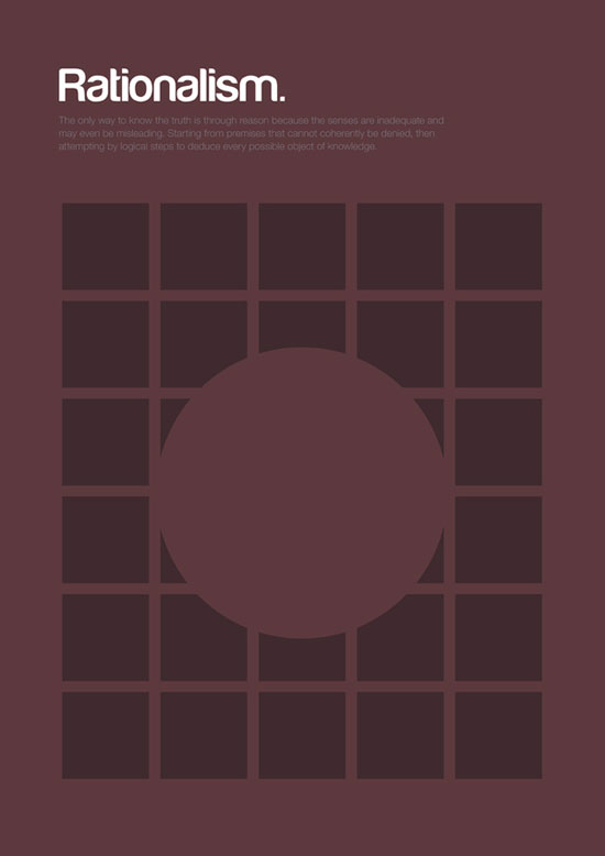 rationalism minimalist graphic design poster