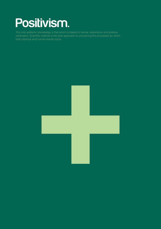 positivism minimalist graphic design poster