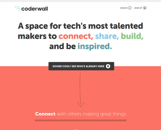 coderwall.com Site Design