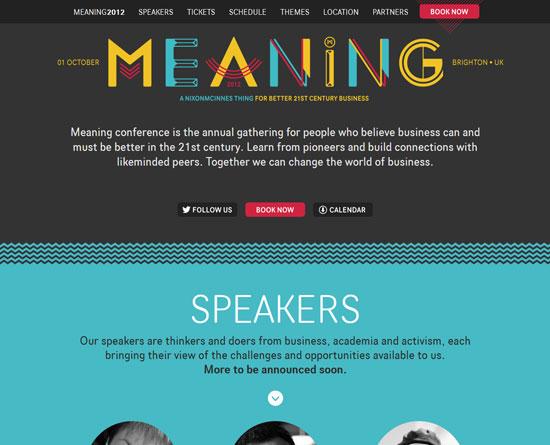 meaningconference.co.uk Site Design