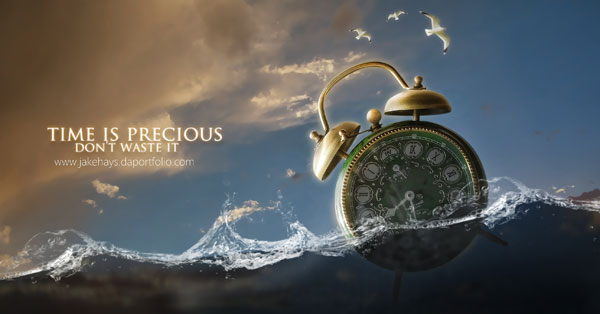Time is Precious Photoshop Design Inspiration