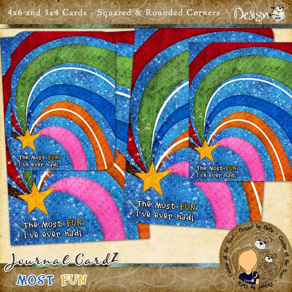 Journal CardZ - Most Fun by DesignZ by DeDe