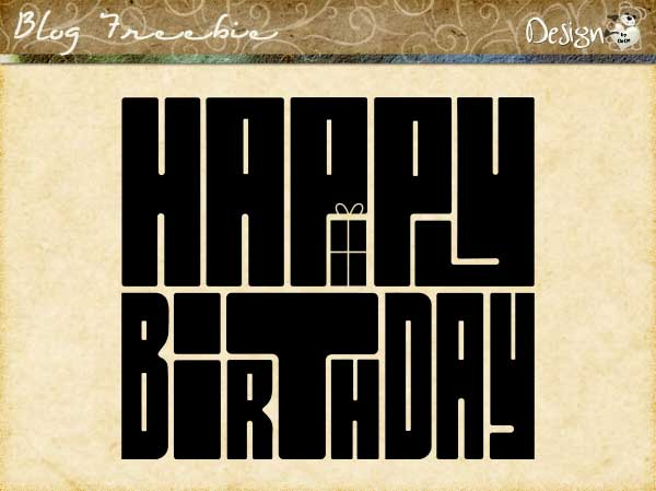 Happy Birthday Wordart by DesignZ by DeDe
