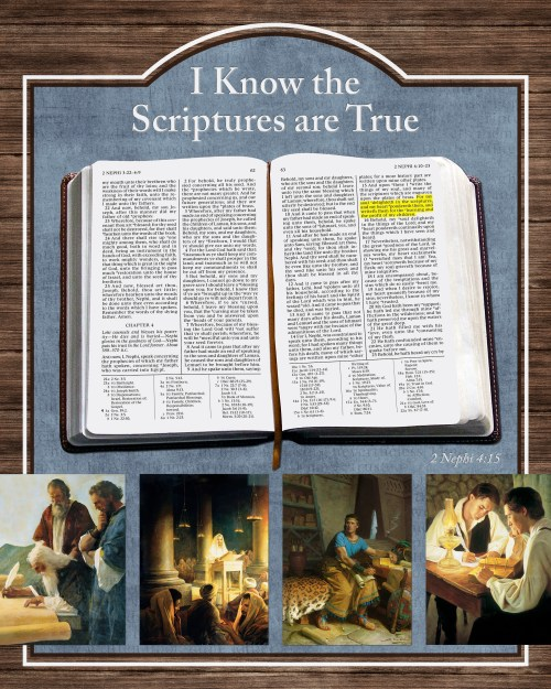2016 Primary Theme Posters - I Know the Scriptures Are True