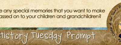 Journal Prompt: Do you have any special memories that you want to make sure are passed on to your children and grandchildren?