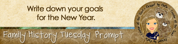 Journal prompt: Write down your goals for the new year.
