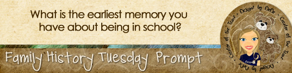 Journal prompt: What is the earliest memory you have about being in school?