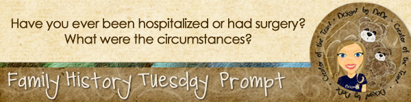 Journal prompt: Have you ever been hospitalized or had surgery? What were the circumstances?