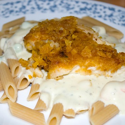 Creamy Italian Pasta with Crunchy Chicken by DeDe Smith