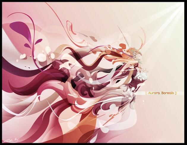 vexel illustration aurora