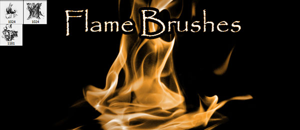 flame brushes photoshop pack
