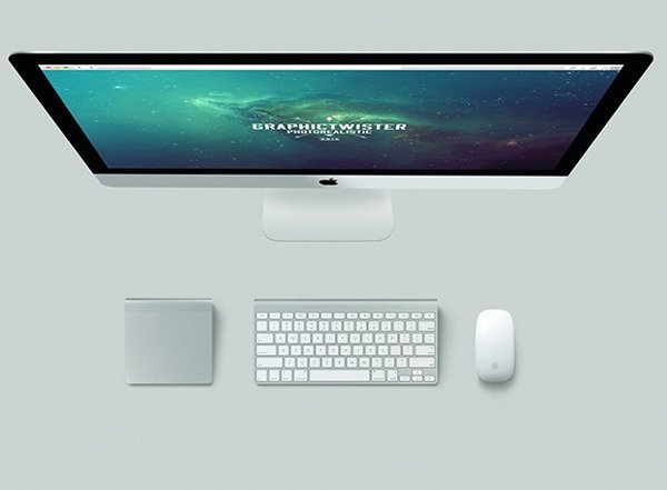 Vertical iMac Mockup Kit