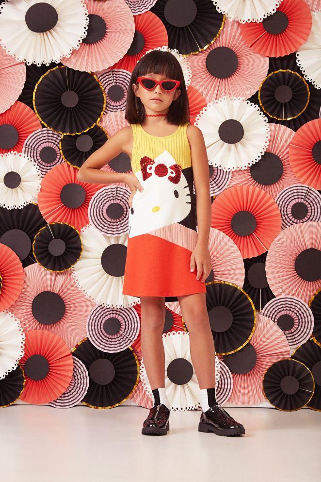 Vestito svasato Hello Kitty