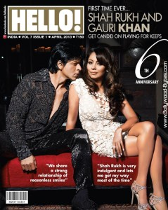 Shahrukh Khan and Gauri grace April cover of Hello