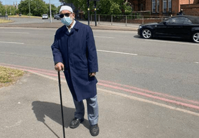 Founder of Birmingham-based charity Islamic Relief marks the end of Ramadan with a four-mile walk while fasting