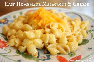 Easy Homemade Macaroni and Cheese Recipe