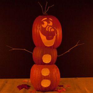 FROZEN Olaf Pumpkin Carving Template
