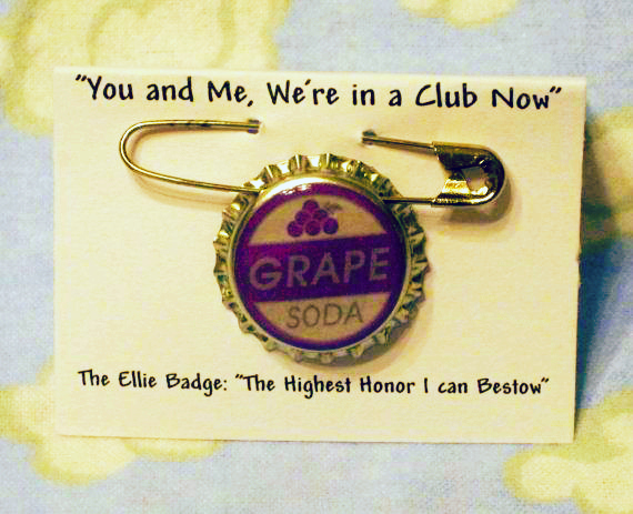 Ellie Grape Soda Badge UP Valentine