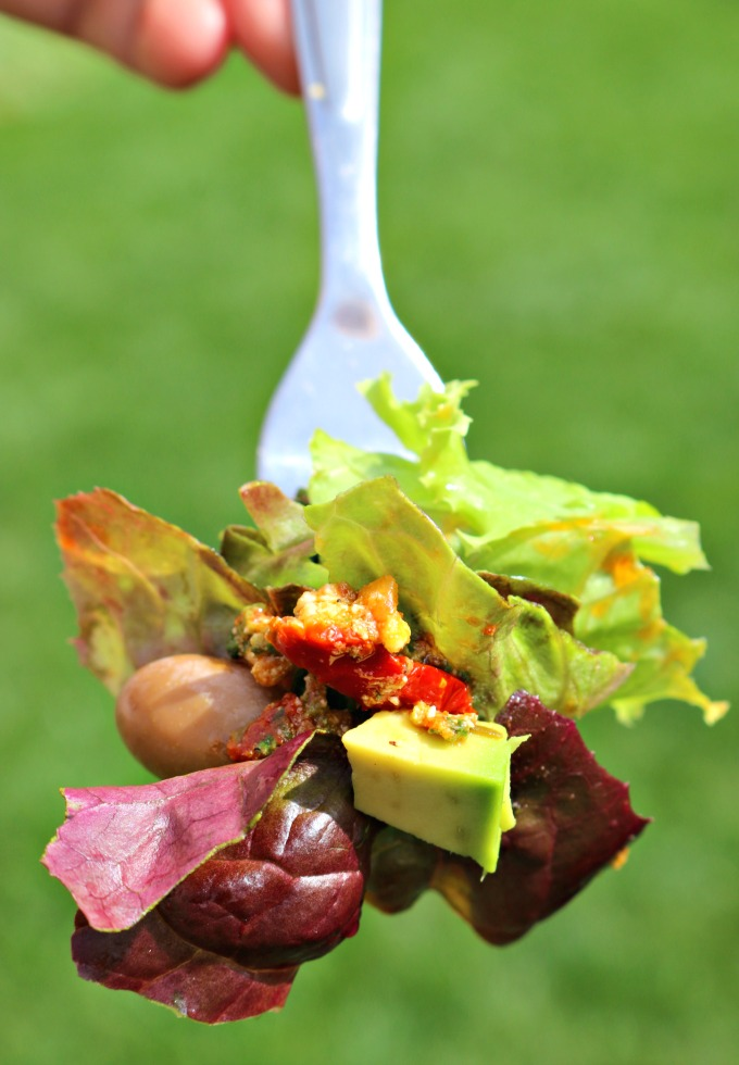 Salad-on-a-fork