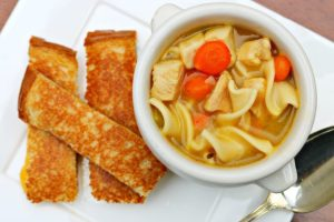 Grilled Cheese Fingers and Progresso Chicken & Homestyle Noodles – Real Dinner, Real Fast