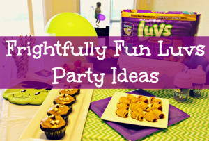 Our Frightfully Fun Luvs Party, Complete With No Leaks and Cupcakes #WhatULuv