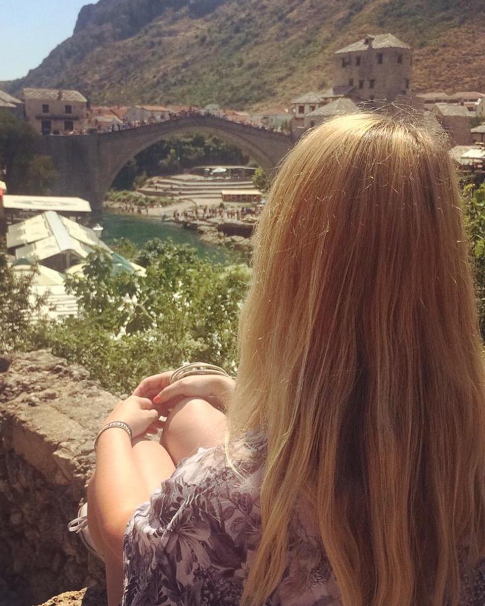 A view of Stari Most bridge in Mostar Bosnia Herzegovina