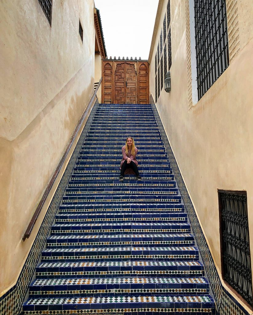 Colourful tiles in Fez Morocco