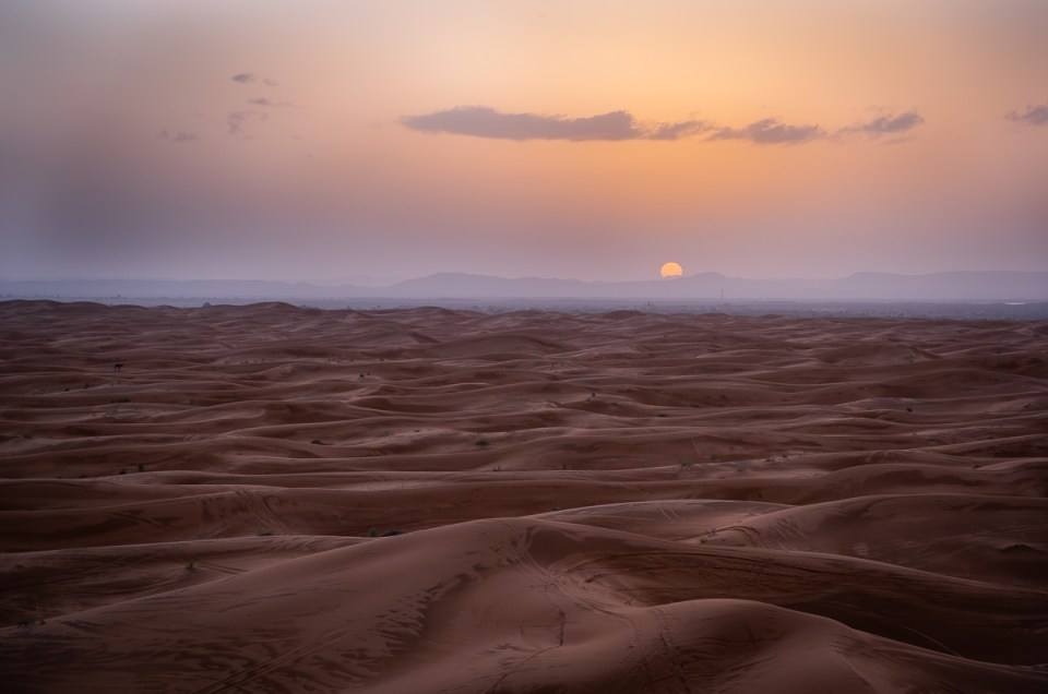 The Sahara desert – between the sand dunes and stars in Morocco