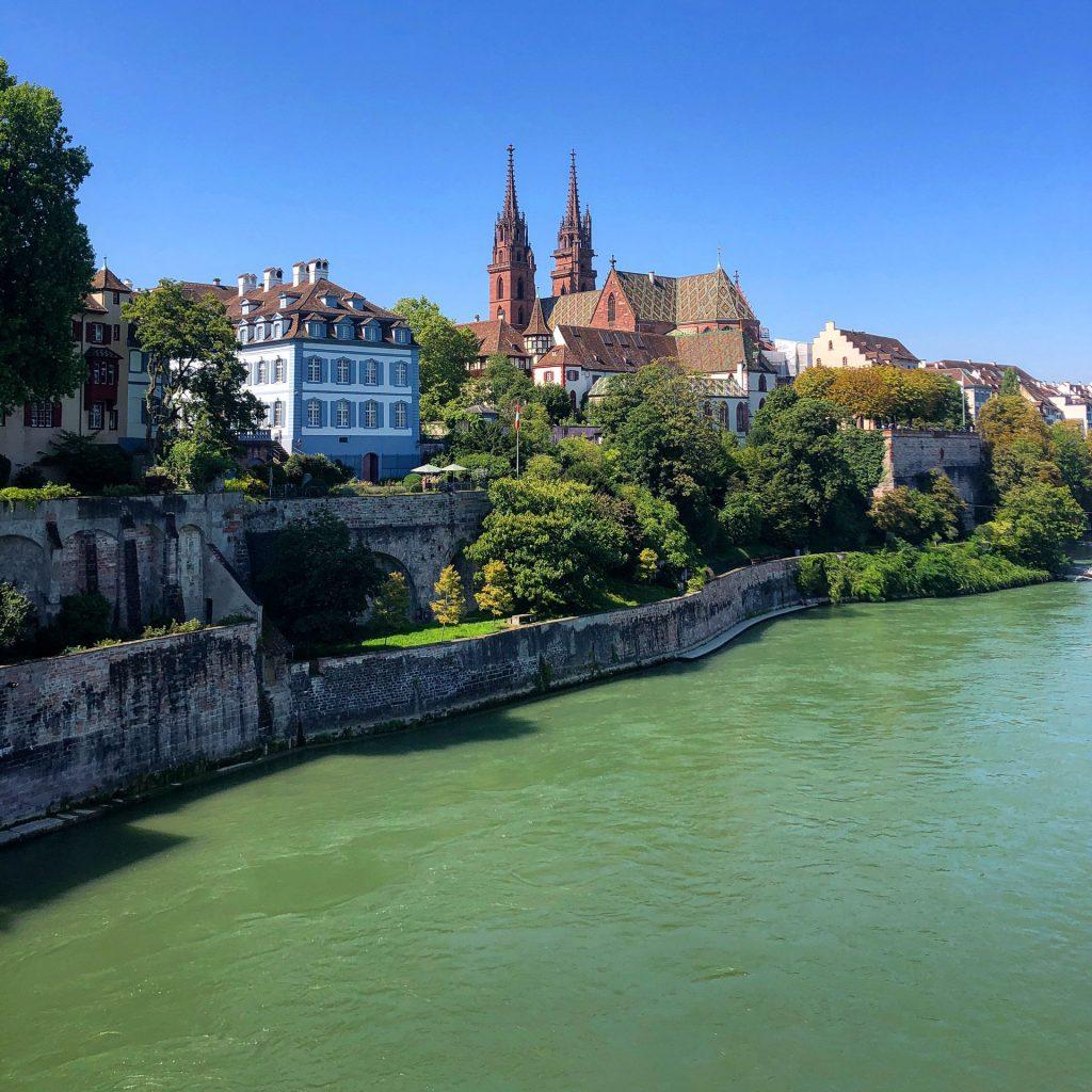 Basel, Sveits, Switzerland, view, utsikt, Rhein, Rhinen