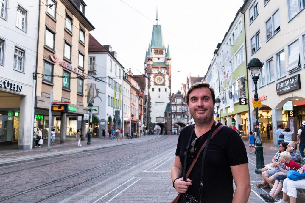 Freiburg im Breisgau , Tyskland Germany, Baden Württemberg, street, gate