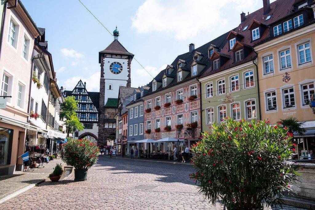 Freiburg im Breisgau , Tyskland Germany, Baden Württemberg, pastel, pastell, gate