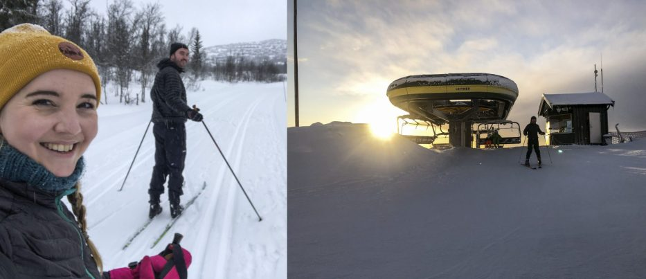 Skiing at Beitostølen Norway
