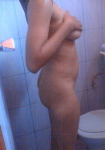 nude babe shower alone