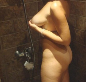 hot boobs babe naked shower