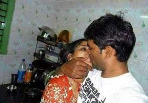 horny desi indian couple seductive lip locking leaked naked photograph