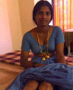 south indian house wife stripping saree showing shaved chut