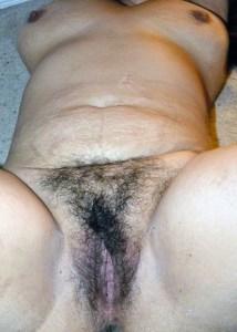 Nude desi hairy bush