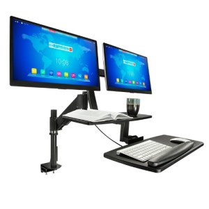 Desk Adjustable Height Monitor and Keyboard Stand