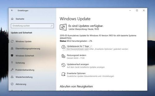 KB4497935 Windows 10 1903 18362 145 (manual download) + KB4498523 as